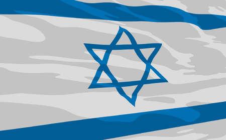 flag of Israel Stock Vector - 6968077