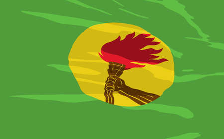 zaire: flag of Zaire Illustration