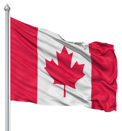 Canada national flag waving in the wind Stock Photo