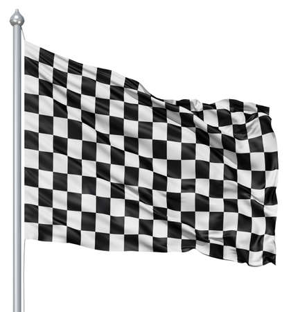 chequered: Checkered black and white flag