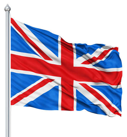 UK national flag waving in the wind Stock Photo - 12994802