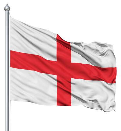 bandera inglaterra: Nacional de Inglaterra bandera ondeando en el viento