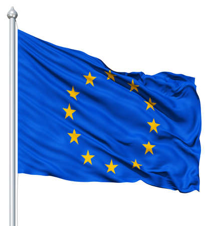 union flag: Europe flag waving in the wind