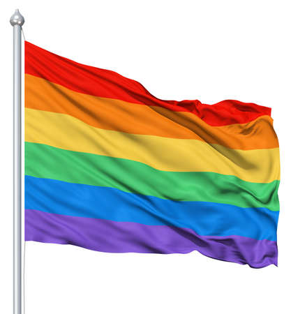 RAinbow gay flag waving in the wind