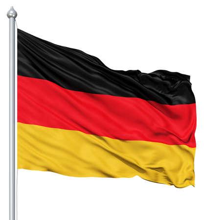 deutschland fahne: Deutschland Nationalflagge im Wind wehende Lizenzfreie Bilder