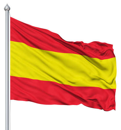 Spain national flag waving in the wind photo