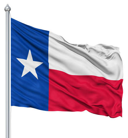 Texas nationale vlag wapperen in de wind