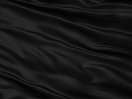 Wavy black textile background with rippled effect Stock Photo - 13147699