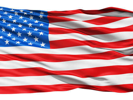 Realistic 3d seamless looping USA United States  flag waving in the wind  Stock Photo