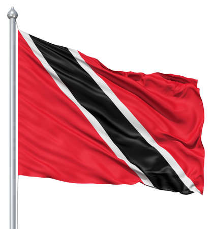 fluttering: Realistic 3d flag of Trinidad and Tobago fluttering in the wind  Stock Photo