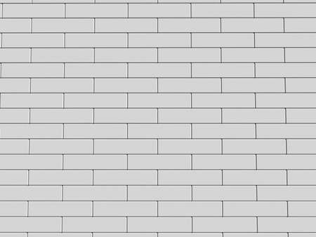 broken down: 3d illustration of a white brick wall
