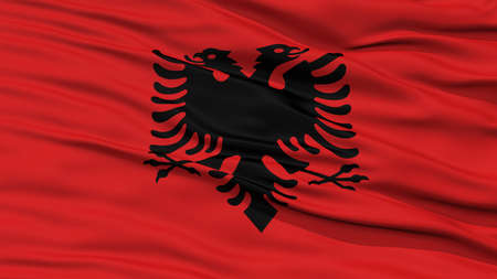 resolution: Closeup Albania Flag, Waving in the Wind, High Resolution Stock Photo
