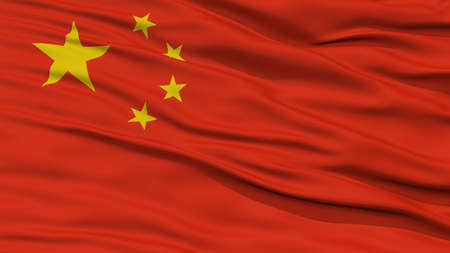 resolution: Closeup China Flag, Waving in the Wind, High Resolution