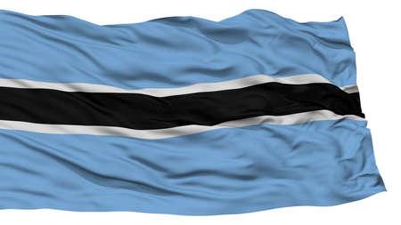 Isolated Botswana Flag, Waving on White Background, High Resolution