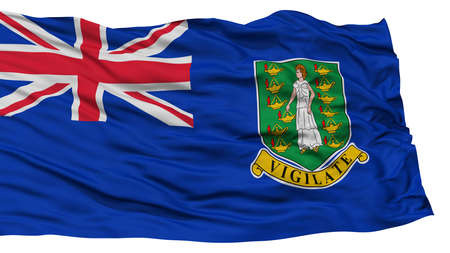 resolution: Isolated British Virgin Islands Flag, Waving on White Background, High Resolution Stock Photo
