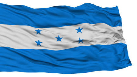 Isolated Honduras Flag, Waving on White Background, High Resolution