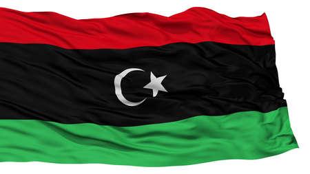 resolution: Isolated Libiya Flag, Waving on White Background, High Resolution
