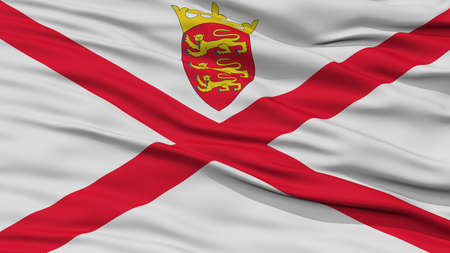 Closeup Jersey Flag, Waving in the Wind, High Resolution
