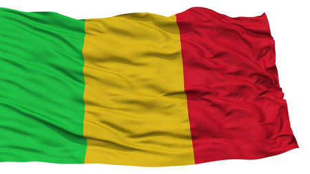 resolution: Isolated Mali Flag, Waving on White Background, High Resolution Stock Photo
