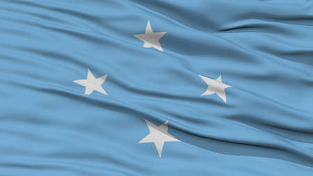 resolution: Closeup Micronesia Flag, Waving in the Wind, High Resolution
