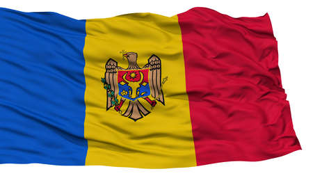 Isolated Moldova Flag, Waving on White Background, High Resolution Stock Photo - 76765236
