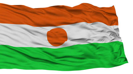 resolution: Isolated Niger Flag, Waving on White Background, High Resolution Stock Photo