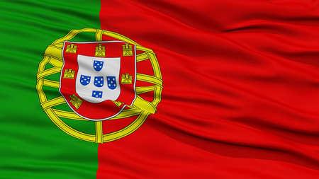 drapeau portugal: Drapeau du Portugal CloseUp, agitant dans le vent, haute résolution
