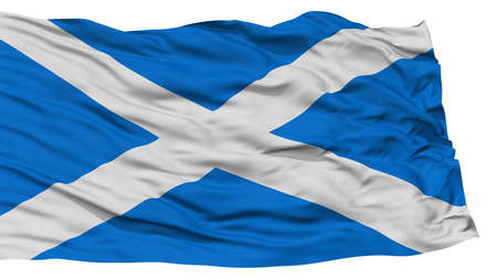 Isolated Scotland Flag, Waving on White Background, High Resolution