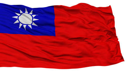 resolution: Isolated Taiwan Flag, Waving on White Background, High Resolution