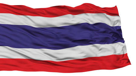 Isolated Thailand Flag, Waving on White Background, High Resolution Stok Fotoğraf