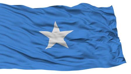 Isolated Somalia Flag, Waving on White Background, High Resolution