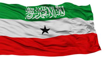 somaliland: Isolated Somaliland Flag, Waving on White Background, High Resolution