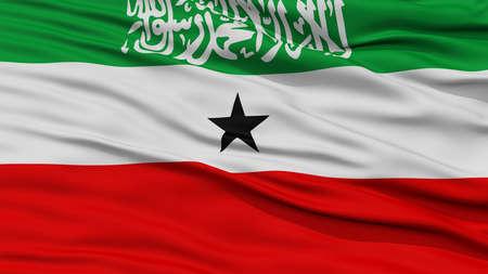 somaliland: Closeup Somaliland Flag, Waving in the Wind, High Resolution Stock Photo