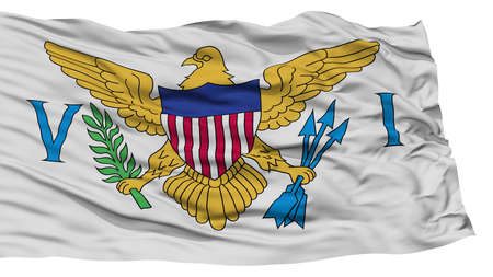 virgin islands: Isolated United States Virgin Islands Flag, Waving on White Background, High Resolution Stock Photo