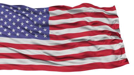 分離米国旗、白い背景、高解像度に手を振る 写真素材