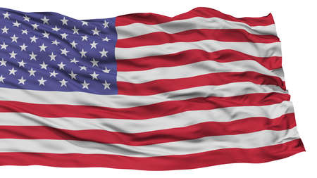 Isolated United States Flag, Waving on White Background, High Resolution 版權商用圖片