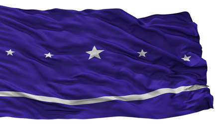 Banderario City Flag, Country Argentina, Isolated On White Background