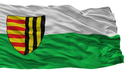 Bree City Flag, Country Belgium, Isolated On White Background