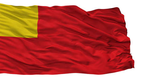 Vilvoorde City Flag, Country Belgium, Isolated On White Background