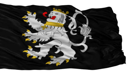 Gent City Flag, Country Belgium, Isolated On White Background Stock Photo