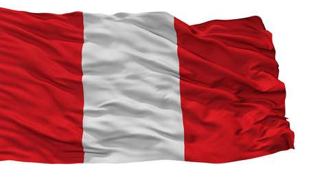 Mons City Flag, Country Belgium, Isolated On White Background