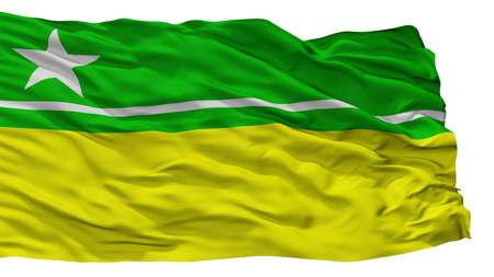 Boa Vista City Flag, Country Brasil, Roraima, Isolated On White Background Stock fotó