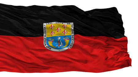 Cucuta City Flag, Country Colombia, Isolated On White Background Stock Photo