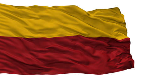 Giron City Flag, Country Colombia, Santander, Isolated On White Background Imagens