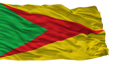 Paz De Ariporo City Flag, Country Colombia, Casanare Department, Isolated On White Background