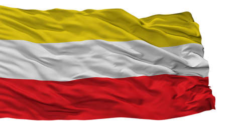 Paz De Rio City Flag, Country Colombia, Isolated On White Background