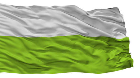 Plato City Flag, Country Colombia, Magdalena Department, Isolated On White Background