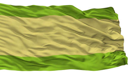 Pueblobello City Flag, Country Colombia, Cesar Department, Isolated On White Background