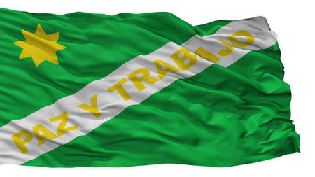Yumbo City Flag, Country Colombia, Valle Del Cauca Department, Isolated On White Background