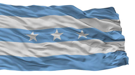 Guayaquil City Flag, Country Ecuador, Isolated On White Background